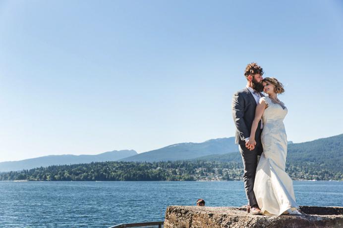 burnaby marine park wedding photo