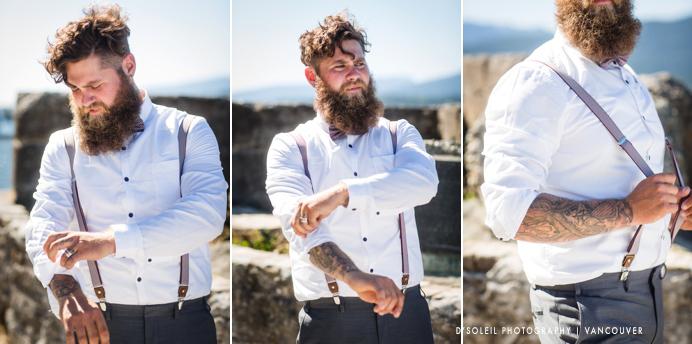 beard groom at wedding