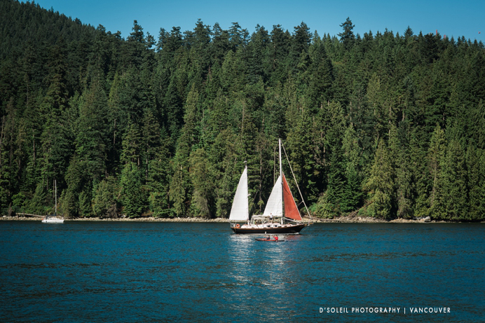 sailing at marine park near Burnaby Mountain