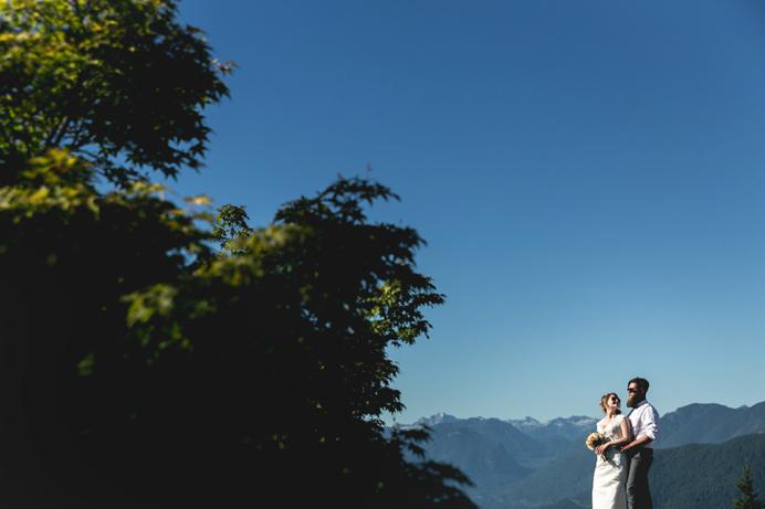 Burnaby mountain wedding views