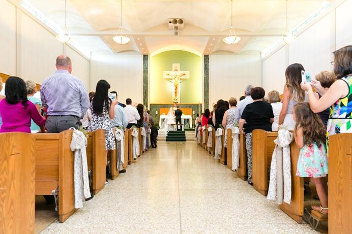 Our Lady of Sorrows Catholic wedding ceremony