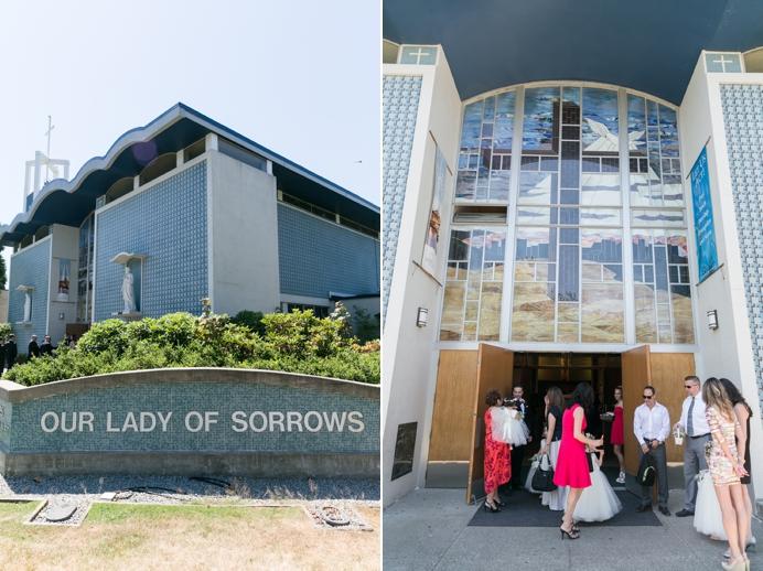 Our Lady of Sorrows Catholic wedding