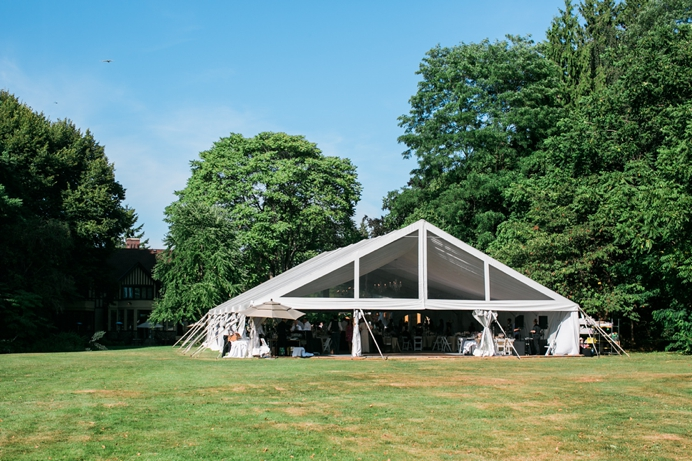 Hart House tent for wedding reception