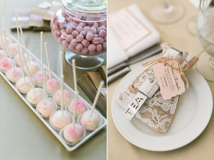 wedding favours at Hart House
