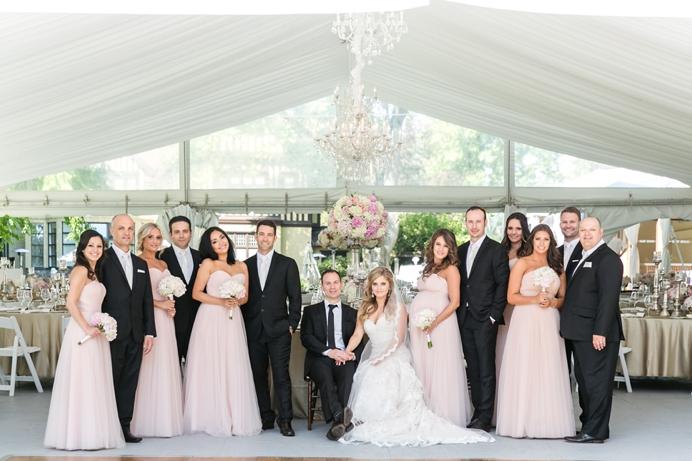 Wedding party photo at Hart House