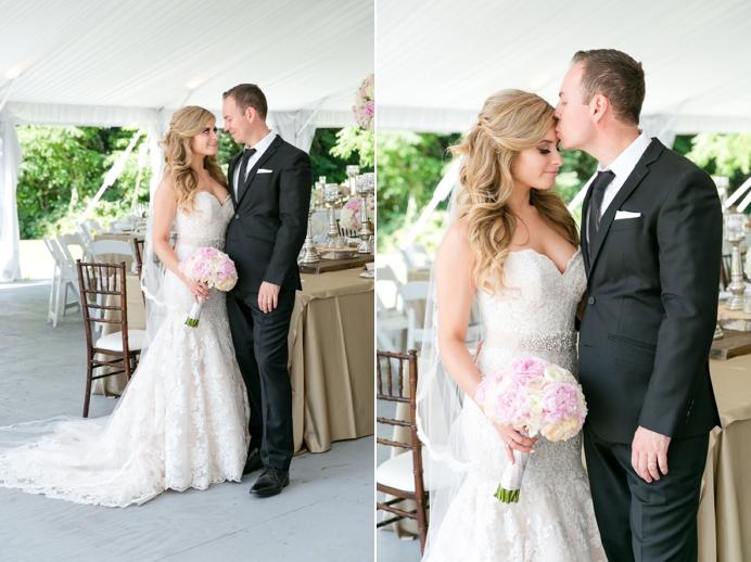 Bride and groom at Deer Lake