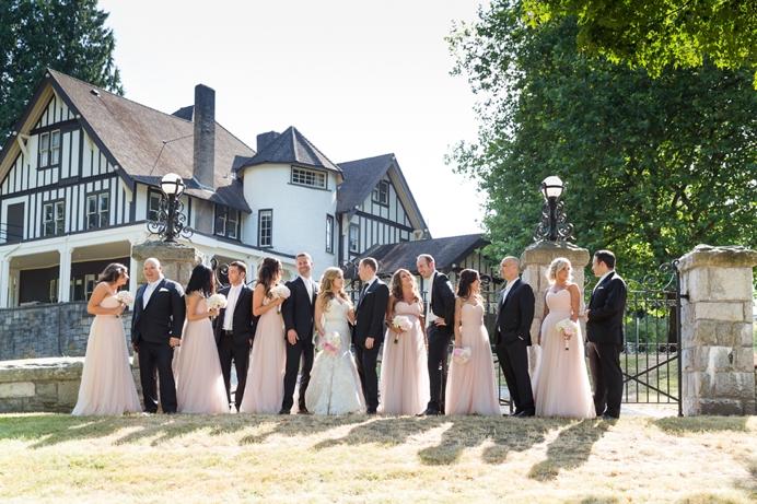 Wedding party at Deer Lake