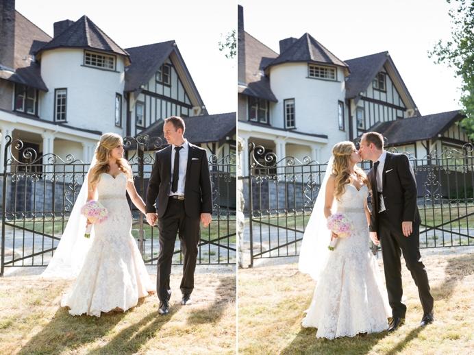 Bride and groom Deer Lake wedding