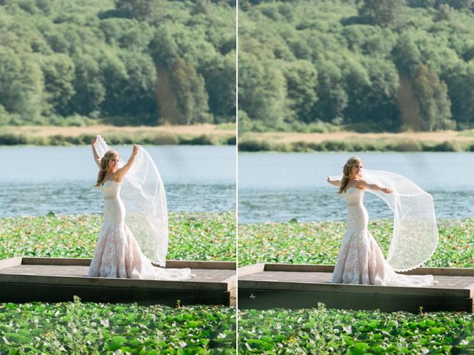 Bride at Deer Lake Hart House