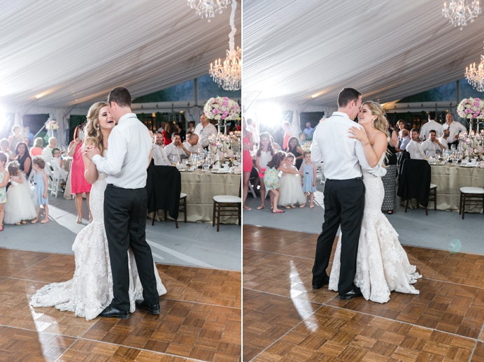 First dance at Deer Lake wedding