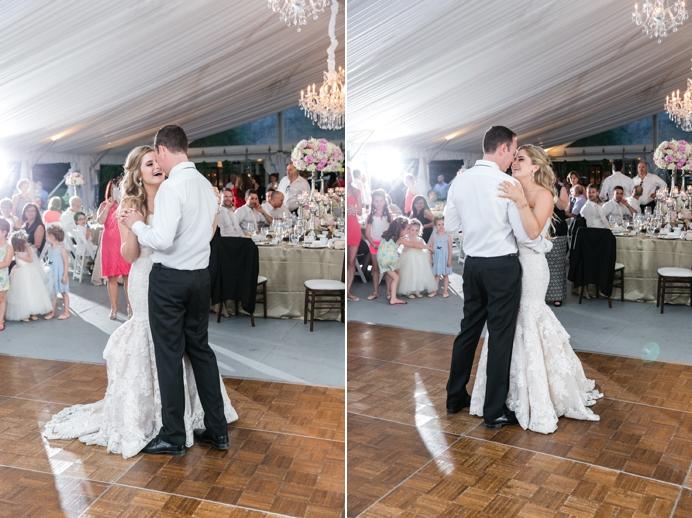First dance at Deer Lake wedding