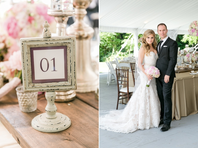 Hart House wedding bride and groom