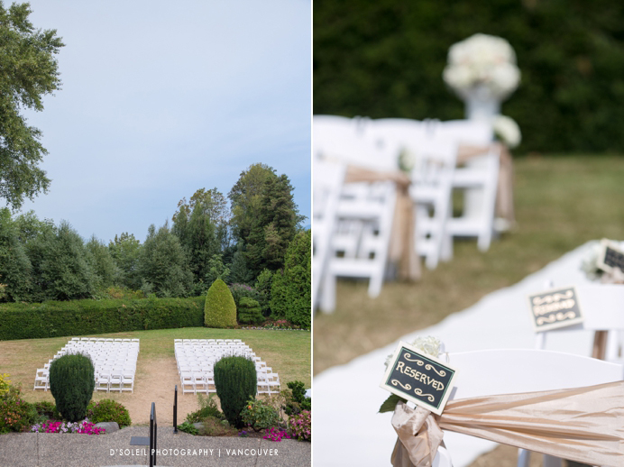 outdoor wedding ceremony at Cecil Green