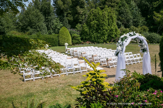 wedding ceremony at Cecil Green