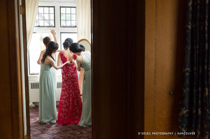 bridal room at Cecil Green House