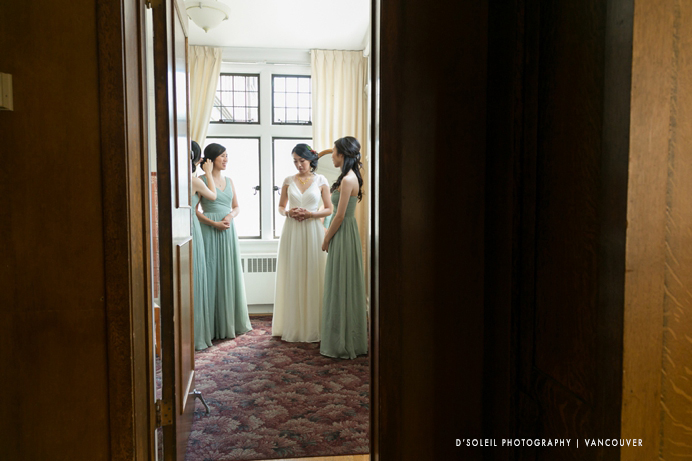 bride's room at Cecil Green House UBC