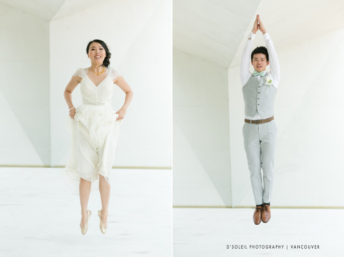 jumping wedding photos