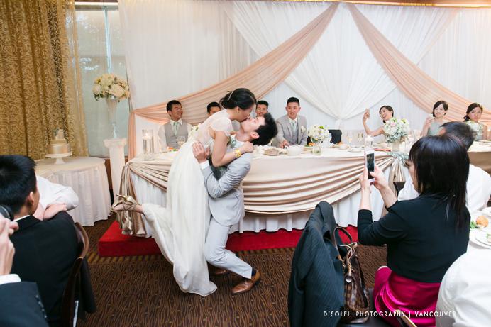 Kissing games at weddings