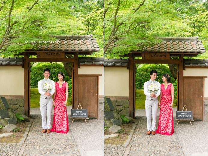 Nitobe Gardens UBC wedding couple