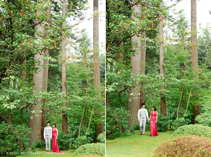 wedding photos at Nitobe Garden, UBC