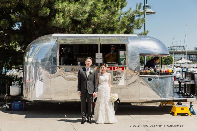 food cart wedding photo Vancouver