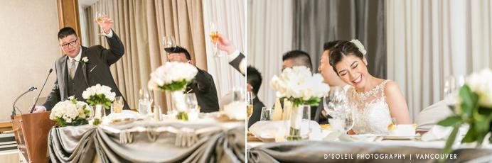 Speeches during wedding reception