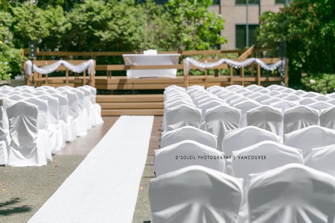 Outdoor wedding ceremony venue in downtown Vancouver