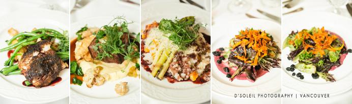 Four Seasons Hotel menu