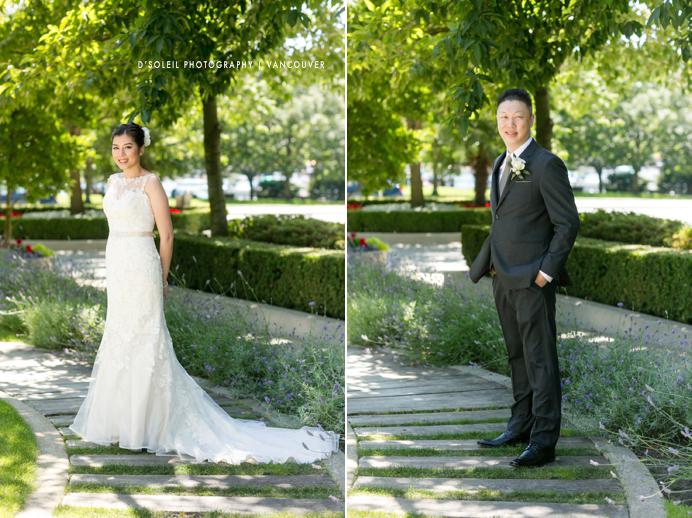 Bride and Groom at False Creek