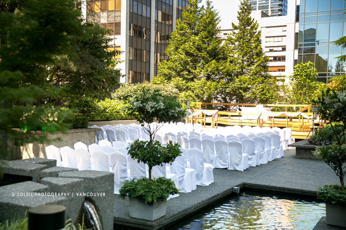 ... Four Seasons Outdoor Ceremony Setup ...