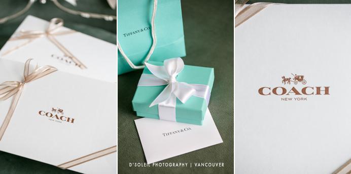 Tiffany box and Coach box gifts