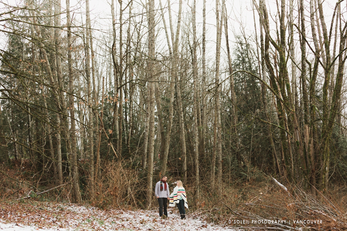couple in rustic engagement session