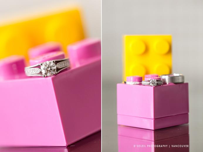 Unique Lego wedding ring box