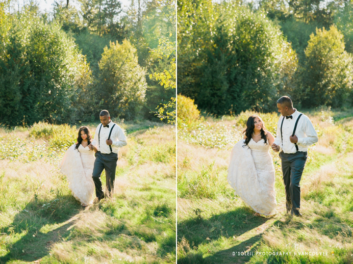 Bride and groom at Green Timbers