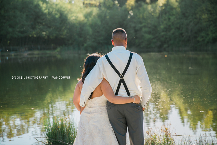 Lake in Surrey for wedding photos