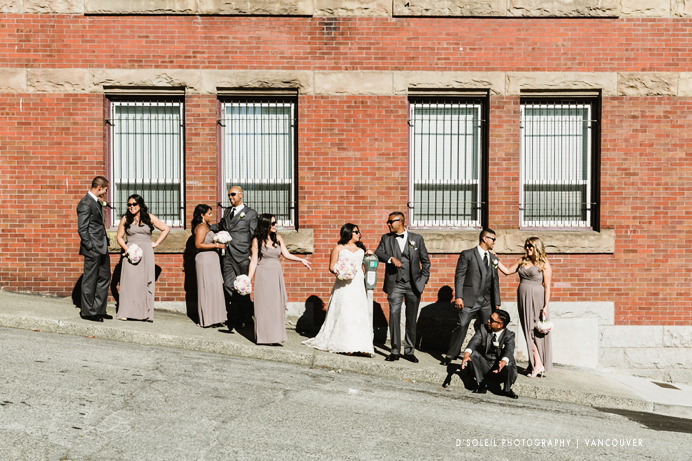 New Westminster wedding party