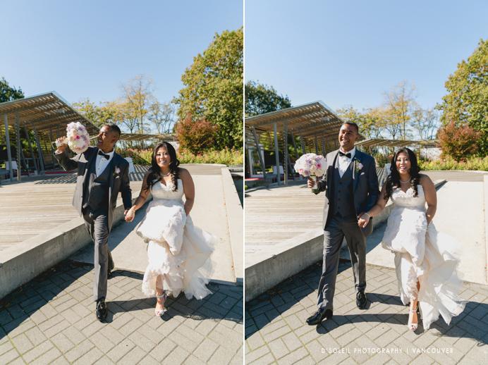 Bride and groom at Celebration Pavilion
