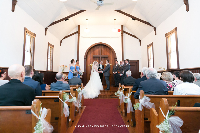 wedding ceremony in Milner Chapel