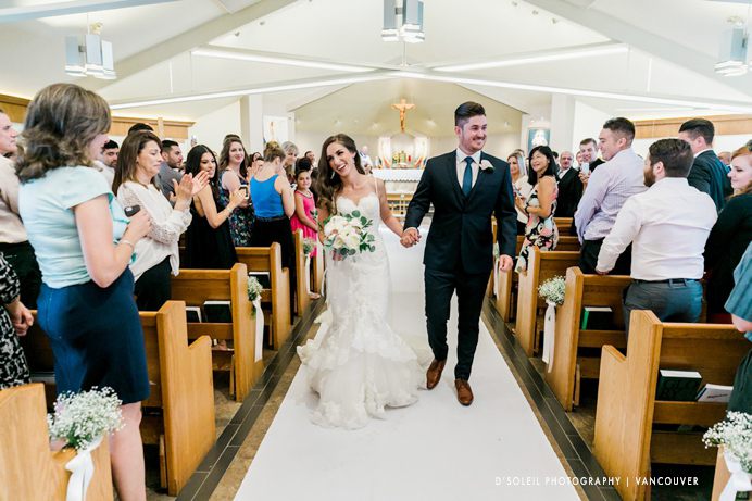 Holy Cross Parish Italian wedding in Burnaby