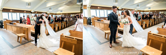 Holy Cross Parish wedding in Burnaby