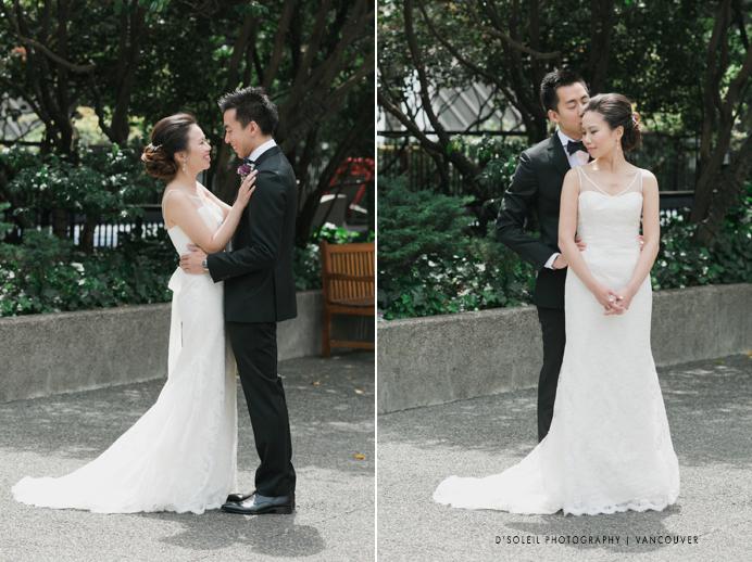 wedding couple at Vancouver Four Seasons