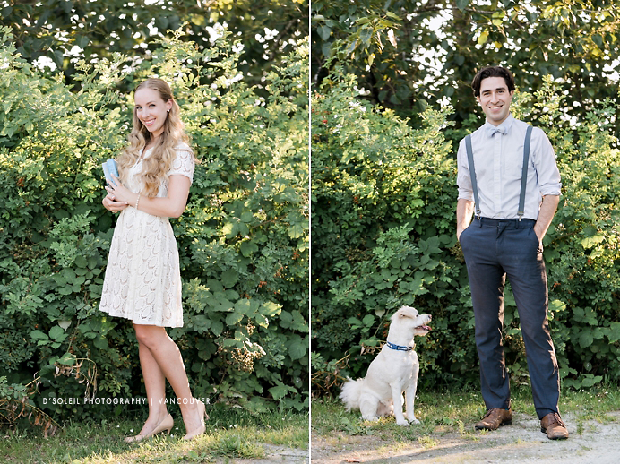 Stylish vintage engagement photos