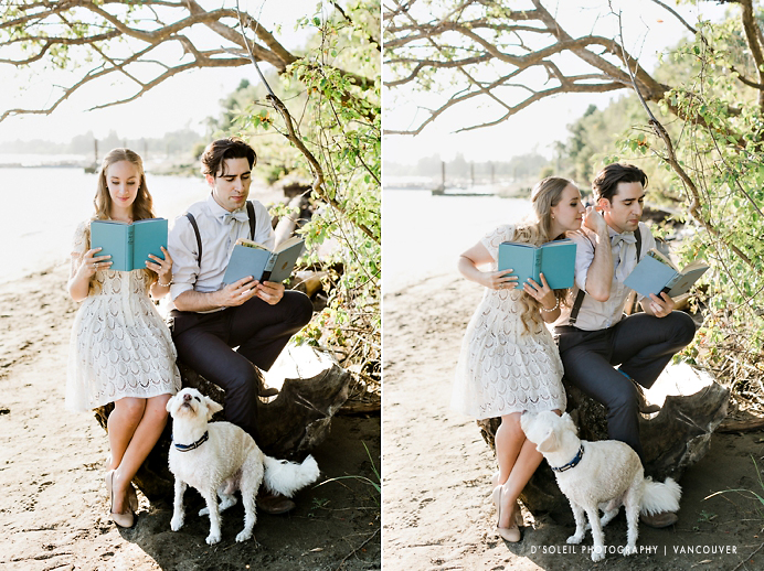 Stylish vintage engagement session in Vancouver