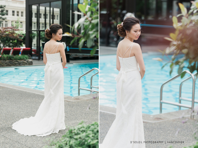 Bride by the Four Seasons pool