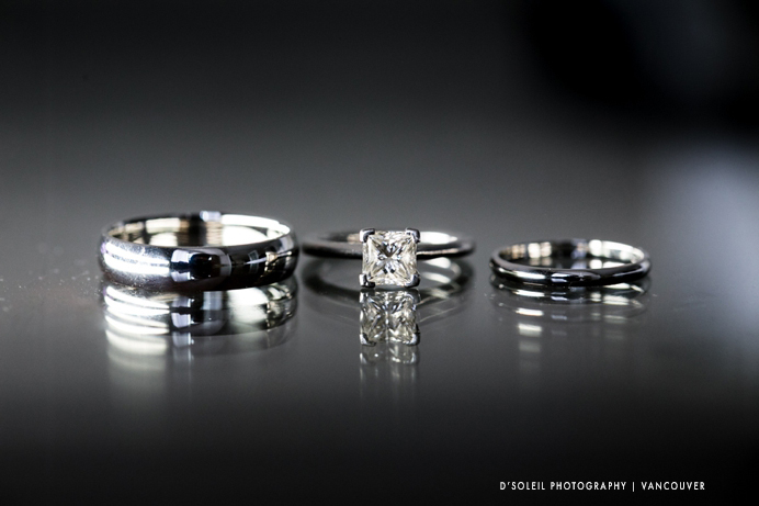 wedding rings macro photo