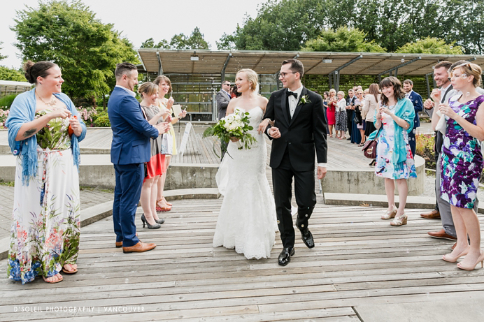Celebration Pavilion wedding ceremony recessional