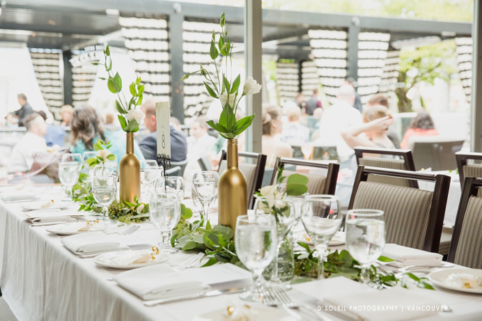 Dockside wedding decor