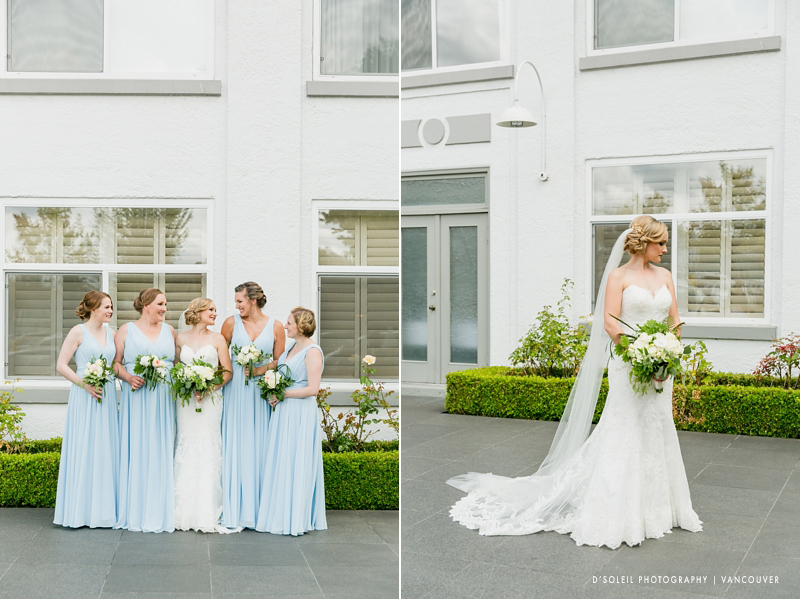 Granville Island Hotel wedding bridal party