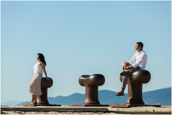 Watch the suning during their wedding engagement session at the beach