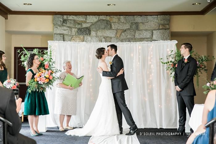 Diamond Alumni wedding ceremony